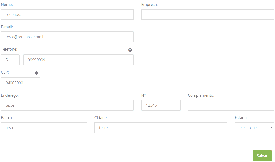 Preencha o formulário